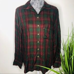 Lauren Ralph Lauren Tartan Plaid Button Down 8